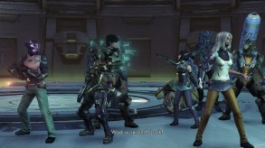 Several of my stylish party members (sorry for the lack of quality... Wii U takes lackluster screenshots)